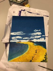 Canvas with a landscape