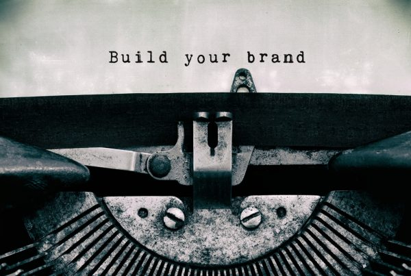 Typewriter with Build your brand